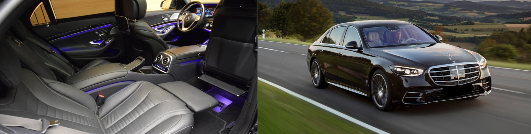 hire this first class mercdes s class in black and enjoy your gstaad chauffeured limousine service